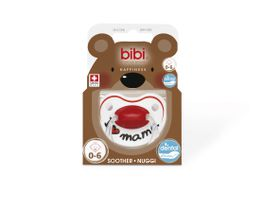Bibi - Soother Silicone - I Love Mama - 0 - 6 Months